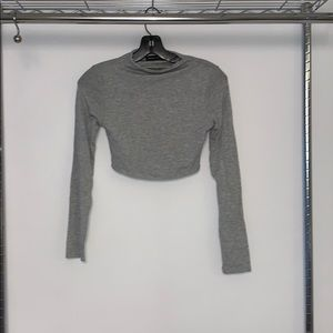 Naked wardrobe light gray crop top